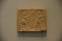 Cylinder Seal of the Priest-King at the Louvre Museum